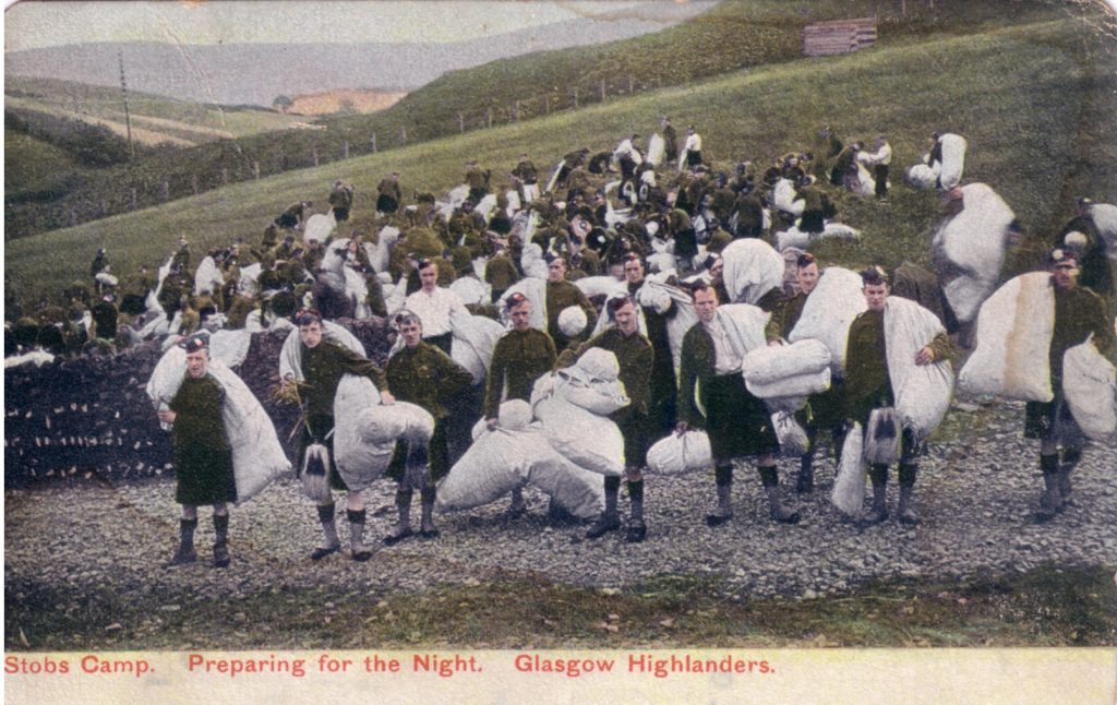 PREPARING FOR THE NIGHT (GLASGOW HIGHLANDERS)