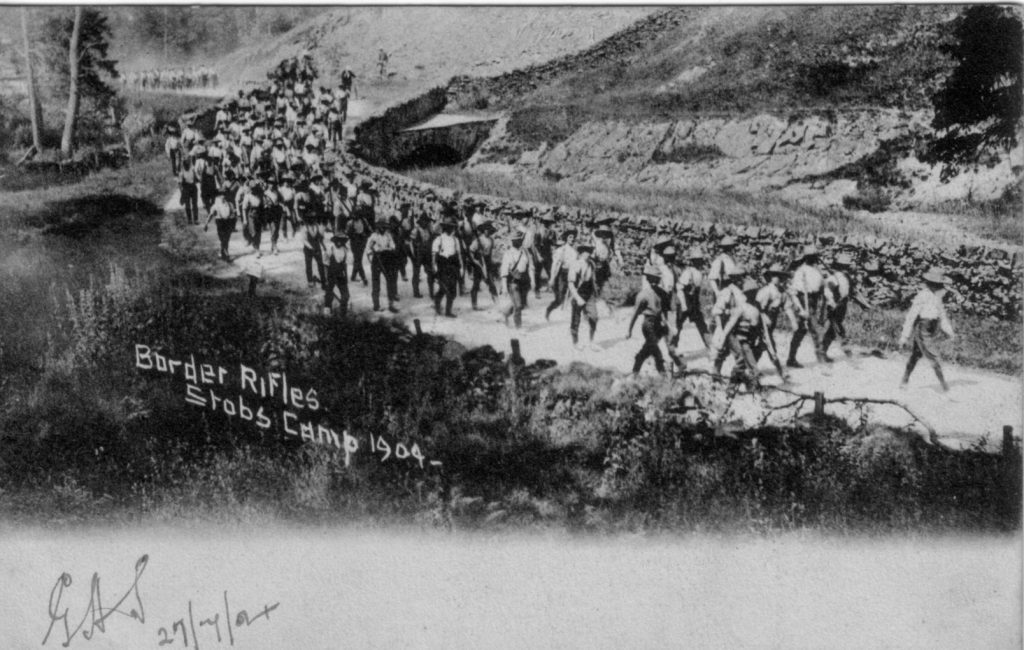 BORDER RIFLES STOBS CAMP 1904