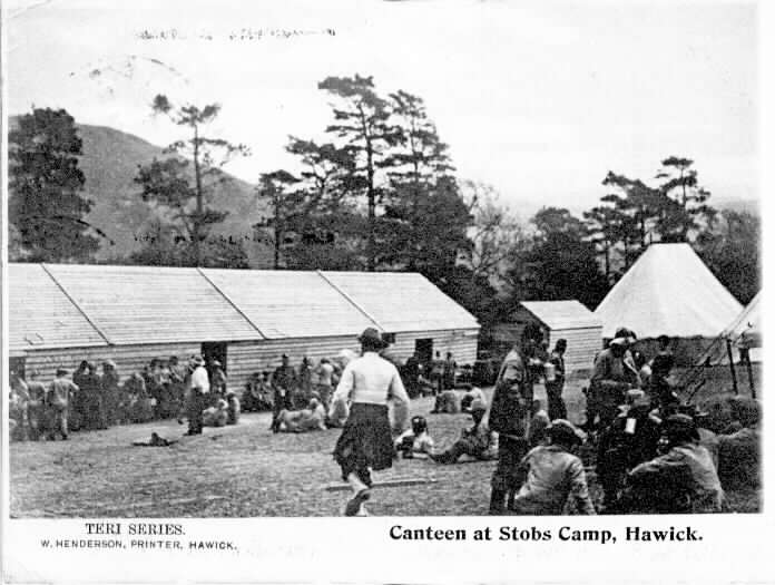 CANTEEN AT STOBS CAMP